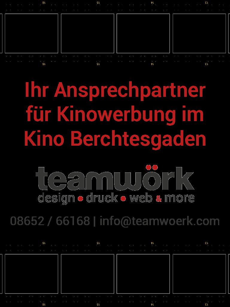 Werbung Teamwörk Berchtesgaden | Kinowerbung | Kino Berchtesgaden im Alpencongress